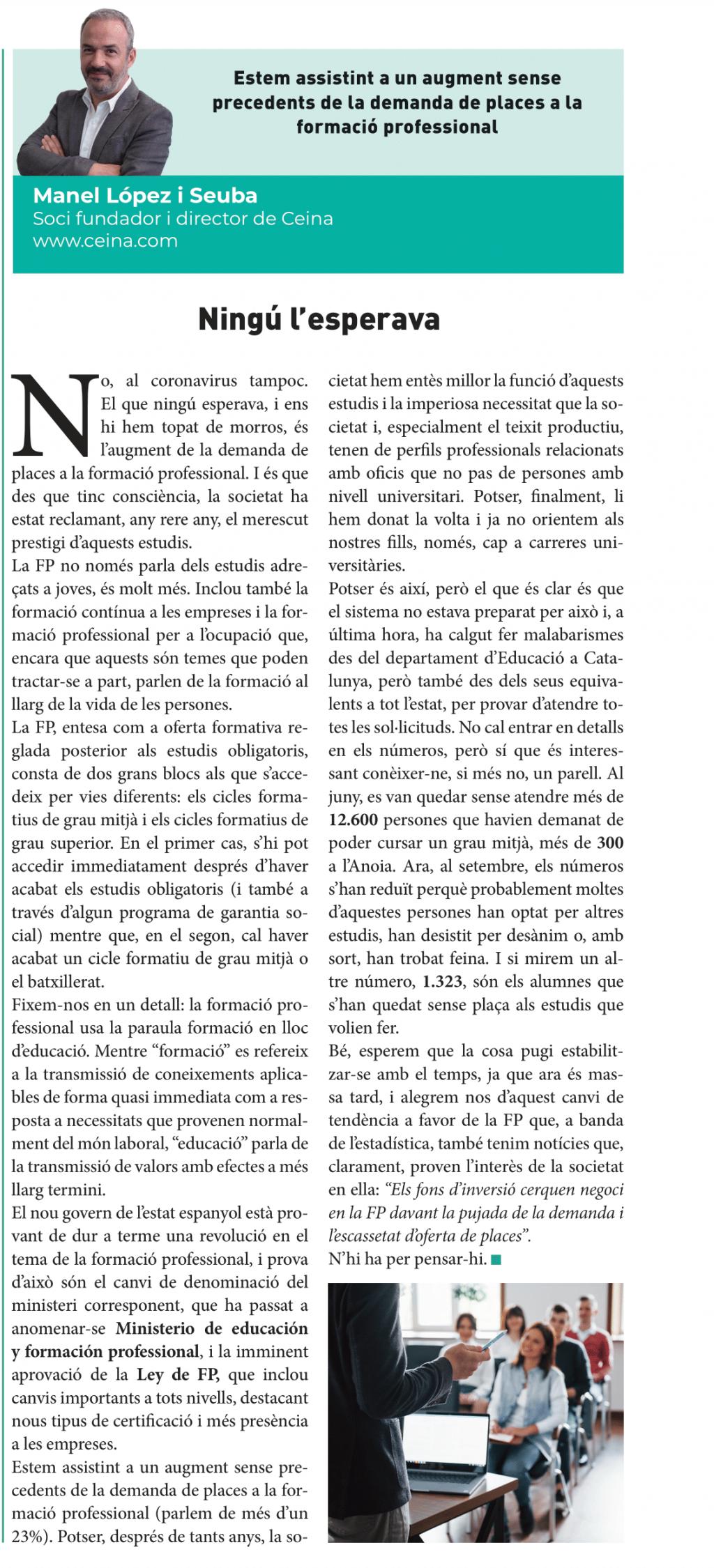 La Veu (8 octubre 21)   Opinió FP