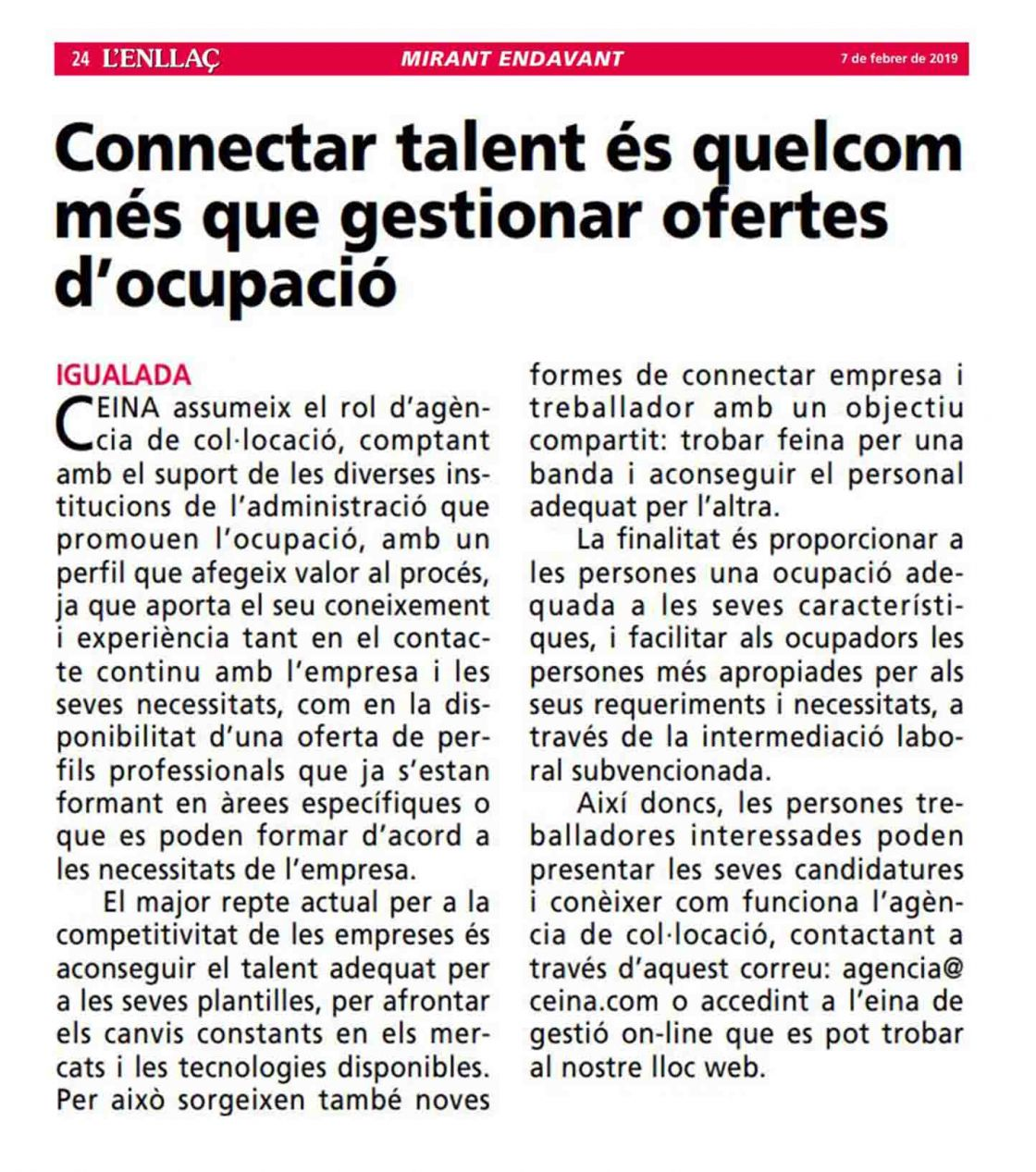 Connectar talent Noticia