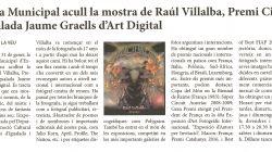 La sala municipal acull la mostra de Raúl Villalba, Premi Ciutat d'Igualada Jaume Graells d'Art Digital