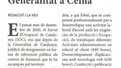 Més cursos de formació ocupacional de la Generalitat a Ceina