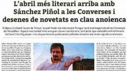 L'abril més literari arriba amb Sánchez Piñol a les converses i desenes de novetats en clau anoienca