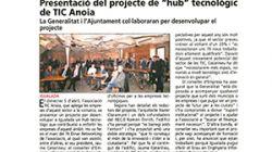 Presentació del projecte de ''hub'' tecnològic de TIC Anoia