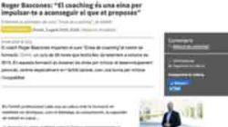 """Roger Bascones: """"El coaching és una eina per impulsar-te a aconseguir el que et proposes"""""""