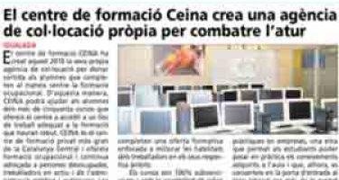 El centre de formació Ceina crea una agència de col·locació pròpia per combatre l'atur