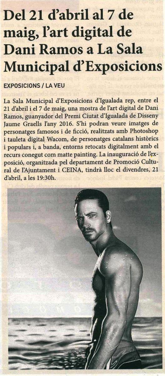La Veu (21 abril 17)   Exposició Dani Ramos