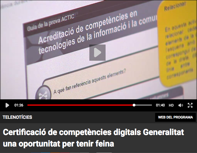 actic  vídeo competències digitals