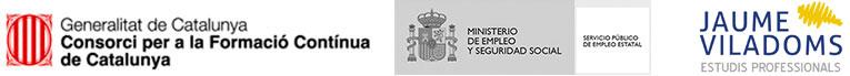Logotips entitats subvencionadores formació contínua