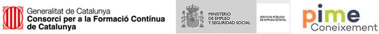 Logotips entitats subvencionadores formació contínua (PIMEC)