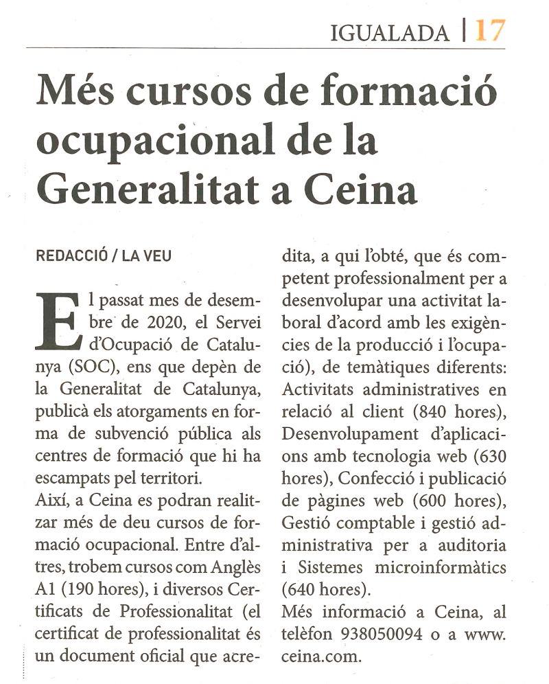 La Veu (8 gener 21)   FOAP