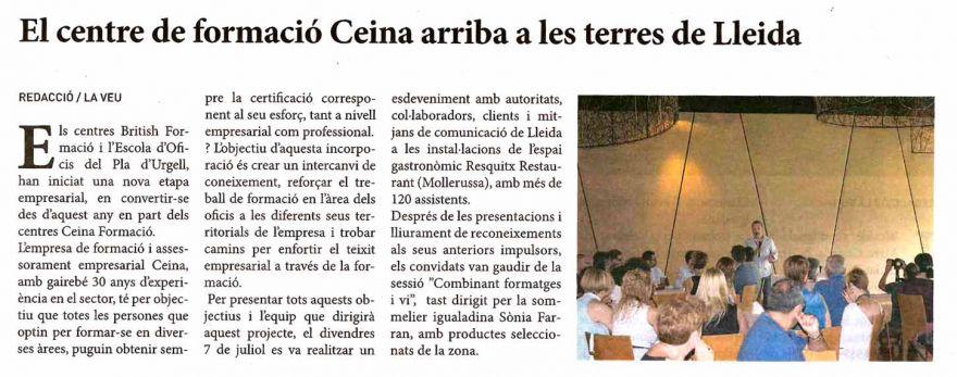 La Veu (21 juliol 17) CEINA a Lleida