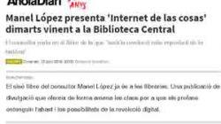 El igualadí Manel López explica las claves de la revolución digital en el libro 'Internet de las cosas'
