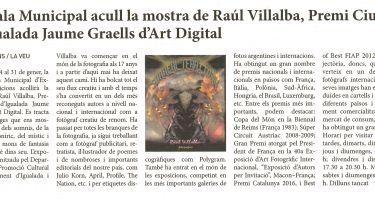 La sala municipal acoge la muestra de Raúl Villalba, Premio Ciutat d'Igualada Jaume Graells d'Art Digital