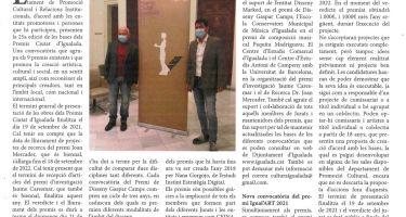 Se convoca la 25a edición de los Premios Ciutat d'Igualada