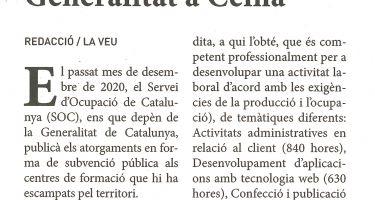 Más cursos de formación ocupacional de la Generalitat en Ceina