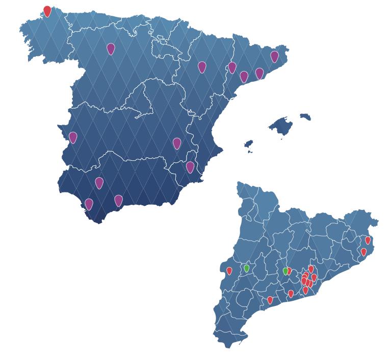 Mapa real Ceina Cataluña | Formación España